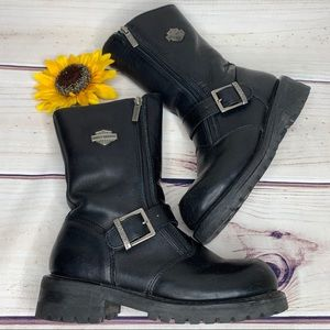 HARLEY-DAVIDSON Ladies Black Leather Riding Boots